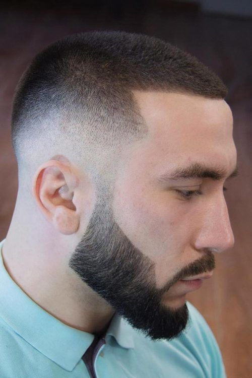 Buzz Cut With Faded Sides #shorthairstylesformen #shorthaircutsmen