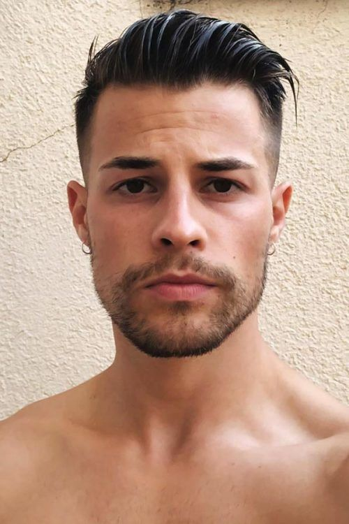 Short Sides Long Top Hair Style #shorthairstylesformen #shorthaircutsmen