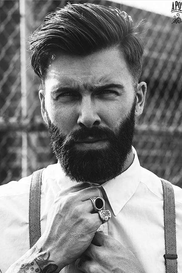 Shaved Sides And Messy Pomp #shortsideslongtop #hipsterhaircut #shortmenshaircuts #pompadour #messypompadour