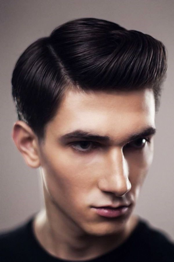 Side-Parted Pompadours