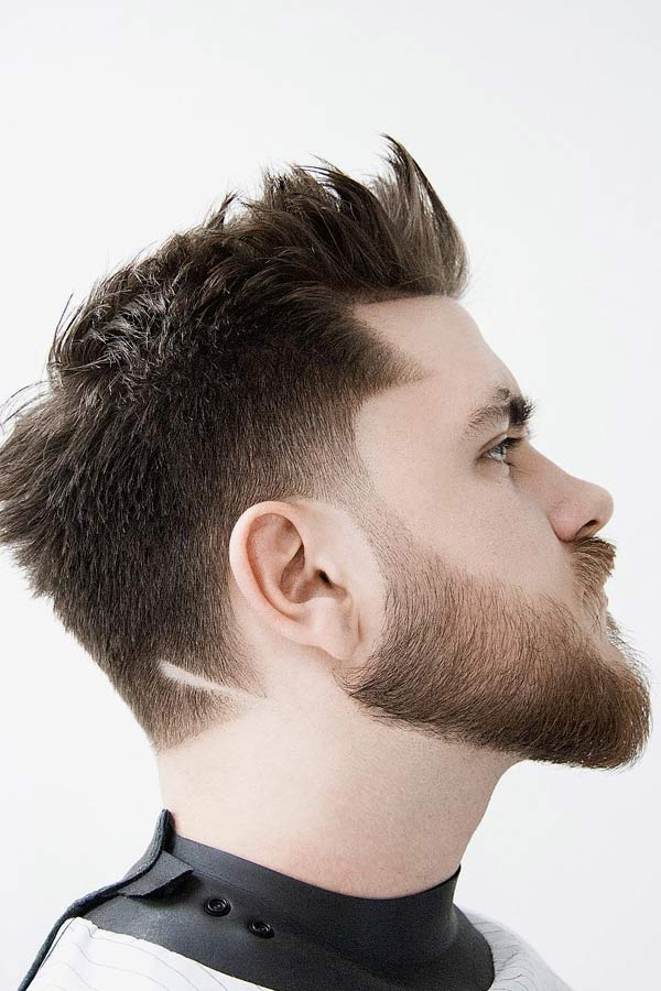 Spiked Up Short Sides Long Top Hairstyles #shortsideslongtop #menshaircuts