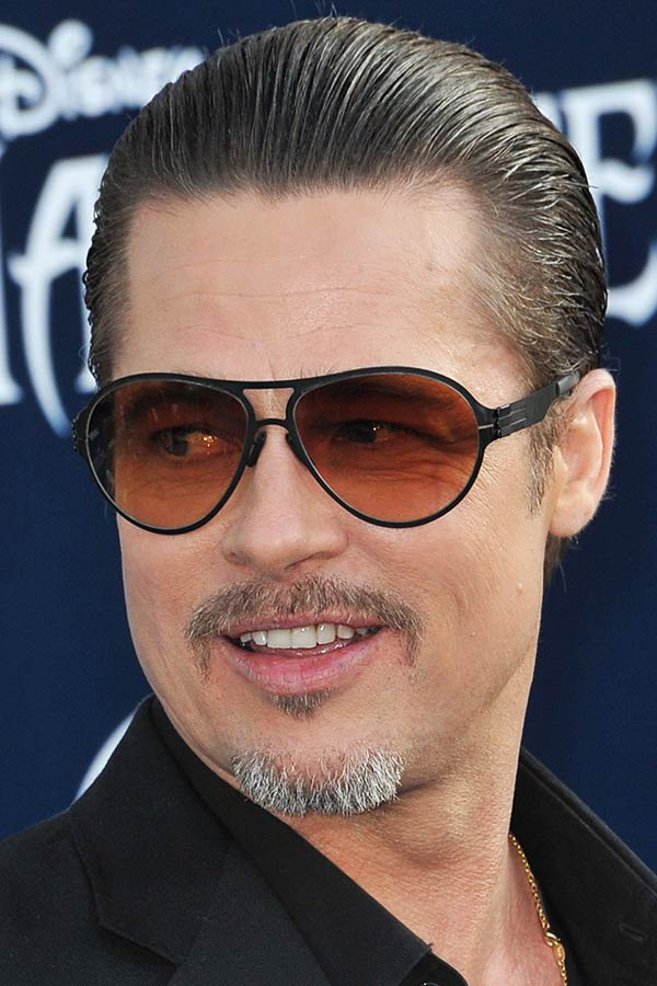 Slicked Back Pitt's Hair #bradpittfuryhaircut #bradpitt