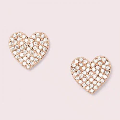 Pave Heart Stud Earrings #christmasgifts #giftsforher #christmaspresent