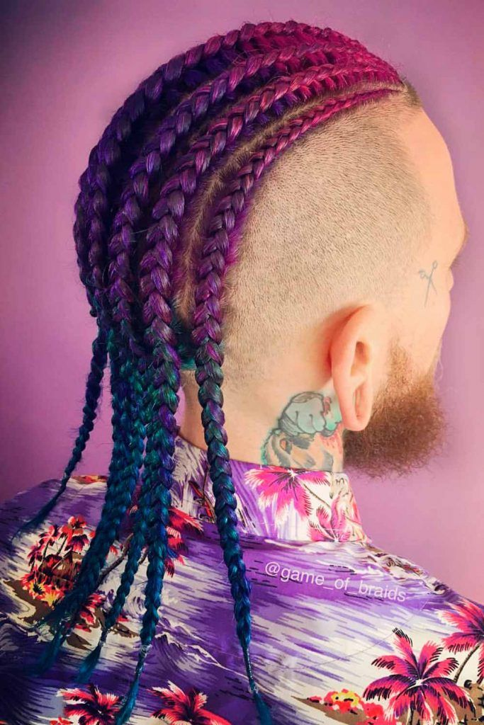 Big Cornrow Braid Styles #cornrows #cornrowsmen #cornrowbraids