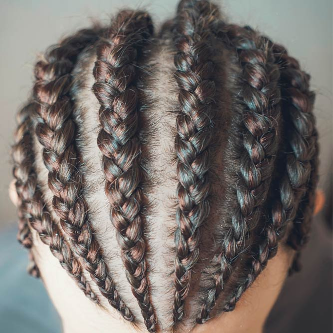 Cornrows With Highlights #cornrows #cornrowsmen
