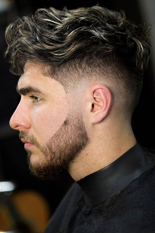 Blonde Highlights #undercut #curlyundercut #curlyhair #curlyhairmen