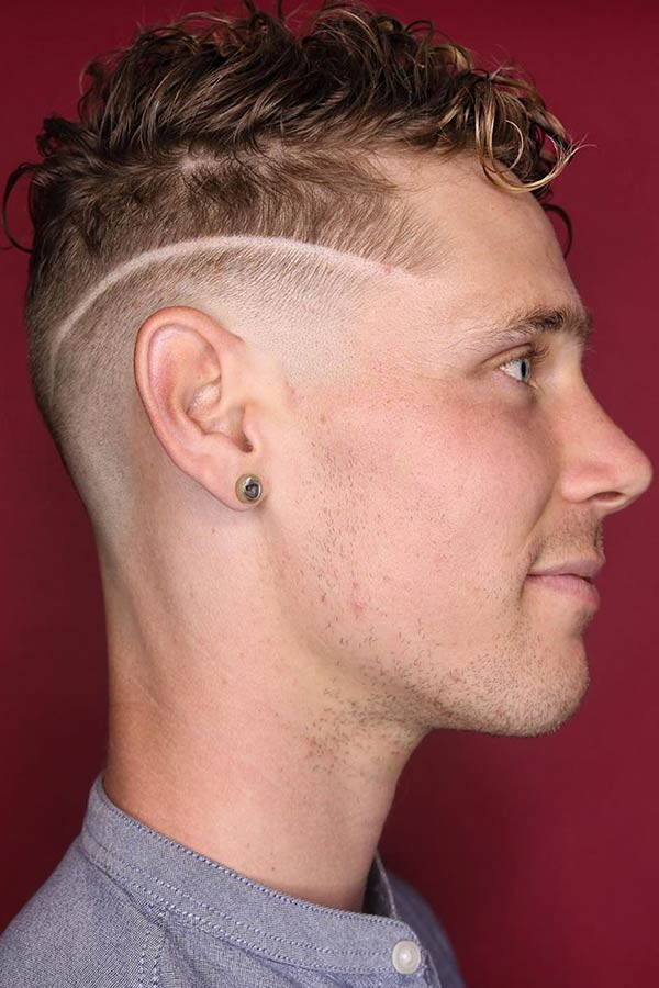 Red Hard Part #undercut #curlyundercut #curlyhair #curlyhairmen