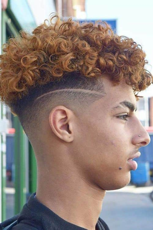 Fresh And Trendy Curly Undercut Ideas For Men