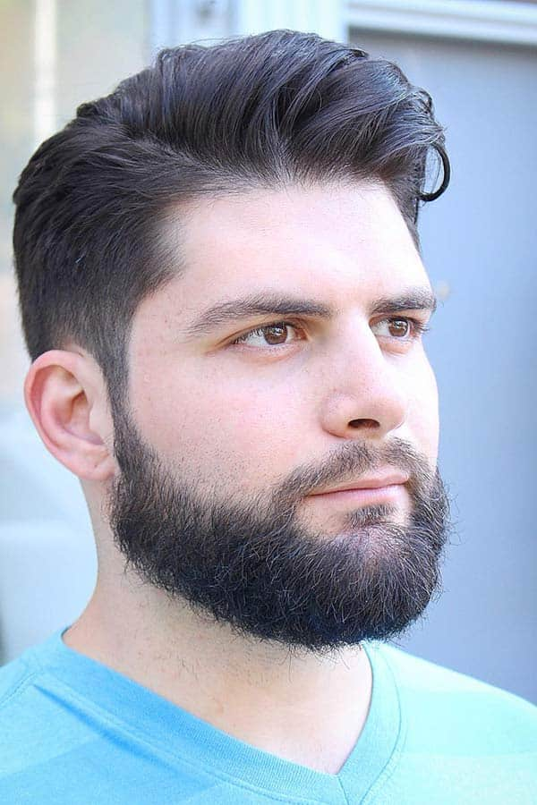 Oval Beard With Comb Over #fullbeard #beardstyles #beardtypes #facialhair #combover