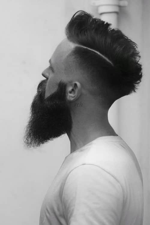 Thick Beard And Faux Hawk #fullbeard #beardstyles #beardtypes #facialhair #fauxhawk