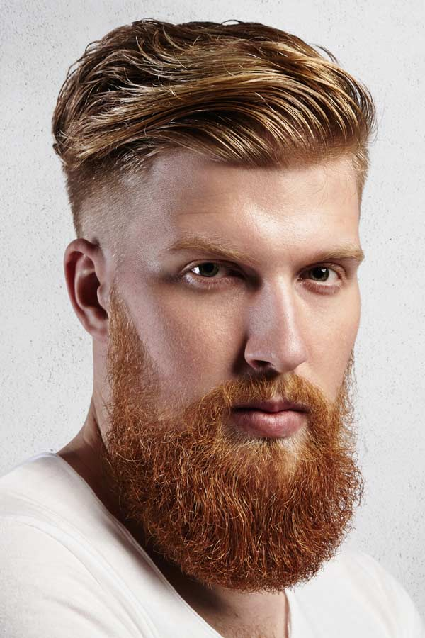 Undercut Hairstyle With Full Long Beard #fullbeard #beardstyles #beardtypes #facialhair