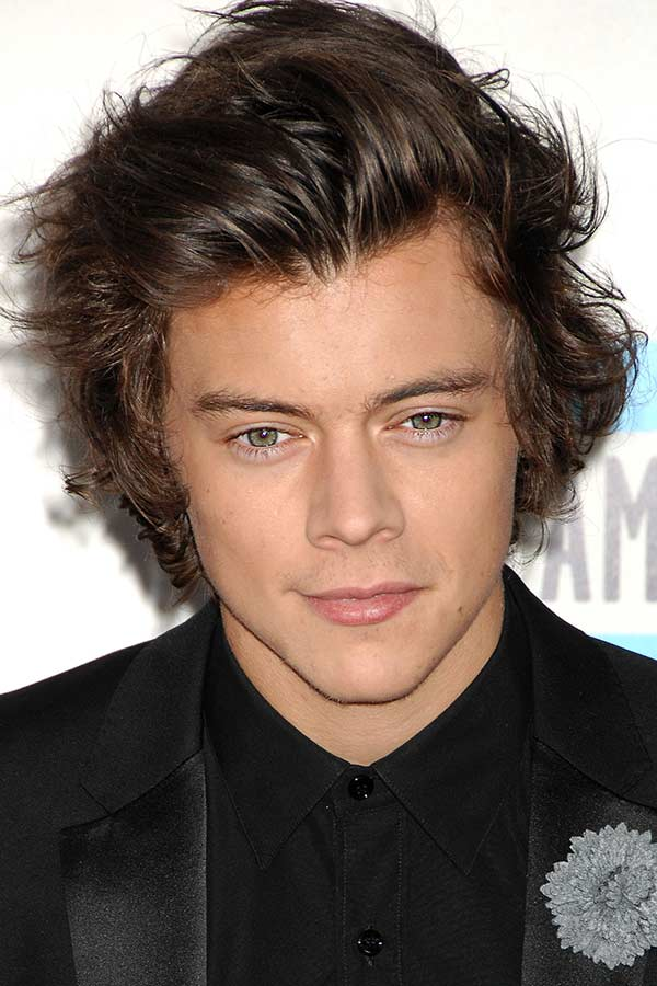 Half Up Harry Styles Haircut #harrystyles #mensmediumhairstyles