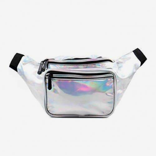 Holographic Silver Fanny Pack For Girl Who Follow Trends #lastminutegiftideas #giftideas #gifts