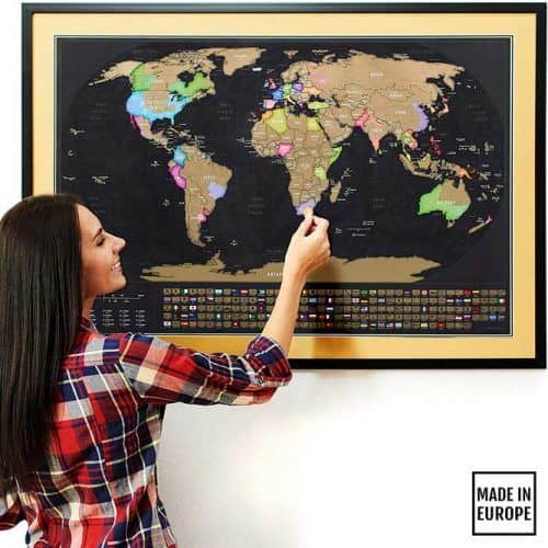 Scratch Off Map Of The World For Person Who Love To Travel #lastminutegiftideas #giftideas #gifts