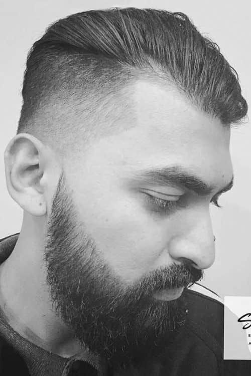 Slicked Back And Drop Fade #menshairstyles #menshairstylesforthinhair #fadehaircut #menshairstyles #slickedback