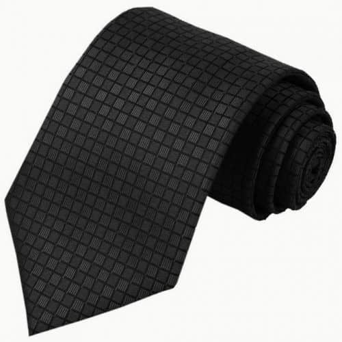 Black Checkered Tie #ties #mensties #tiesformen #suitaccessories