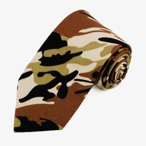 Brown Camouflage Cotton Necktie #ties #mensties #tiesformen #suitaccessories