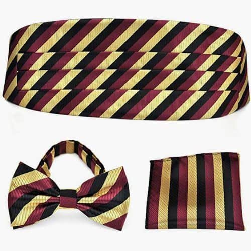Stripe Jacquard Woven Formal Pre-tied Bow Tie Set #ties #mensties #tiesformen #suitaccessories