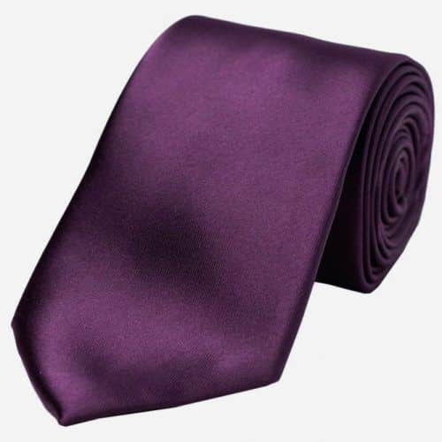 Purple Solid Satin Tie #ties #mensties #tiesformen #suitaccessories