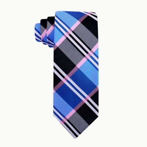 Blue Buffalo Plaid Necktie #ties #mensties #tiesformen #suitaccessories