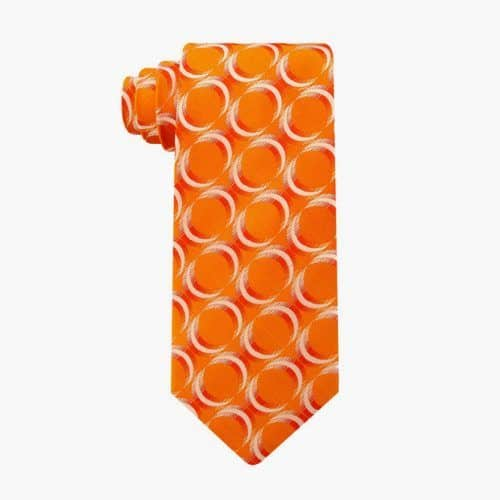 Orange Geometric Necktie #ties #mensties #tiesformen #suitaccessories