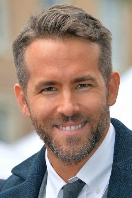 Grey Hair #ryanreynolds #shorthairmen 3greyhair #sidepart #combover