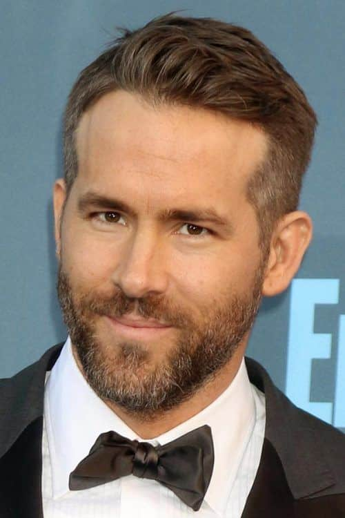 Tapered Cut And Short Beard #taperhaircut #ryanreynolds #shorthairmen