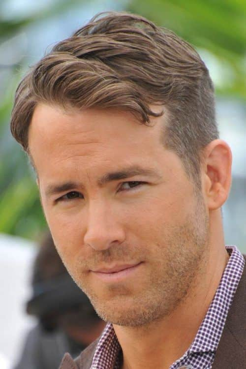 Side Part Hairstyle #sidepart #ryanreynolds #shorthairmen