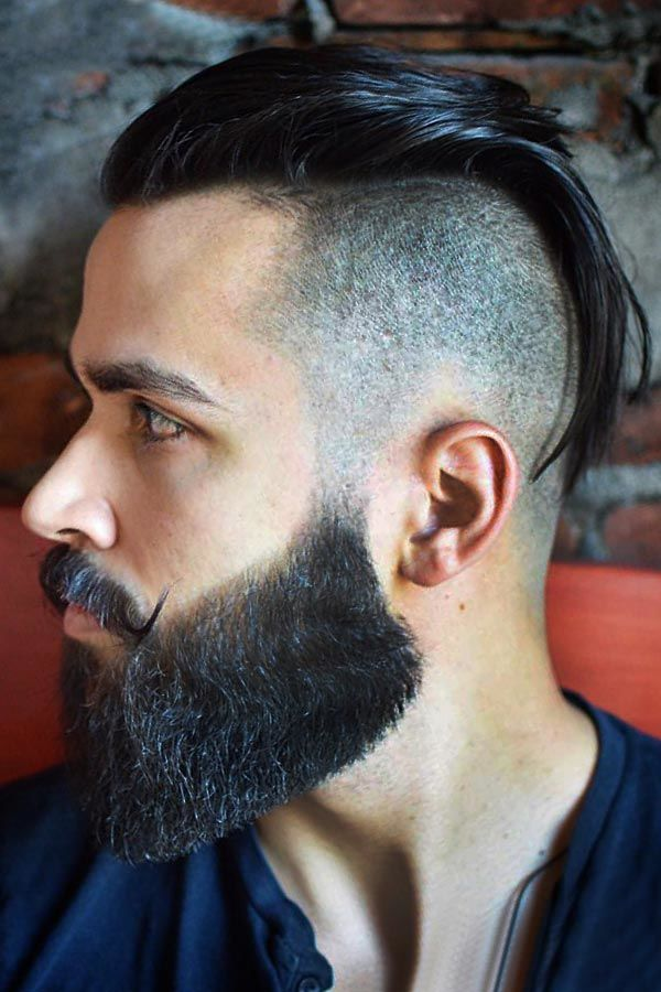 Disconnected Undercut Full Trimmed Beard #undercut #slickedbackundercut #slickback #slickedback #slickbackhair