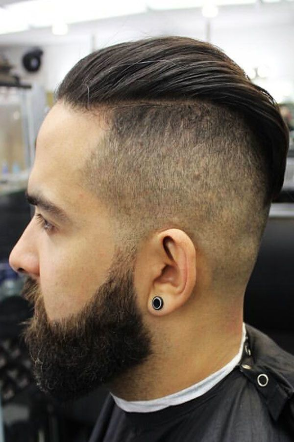 Full Beard With Slicked Back Undercut #undercut #slickedbackundercut #slickback #slickedback #slickbackhair