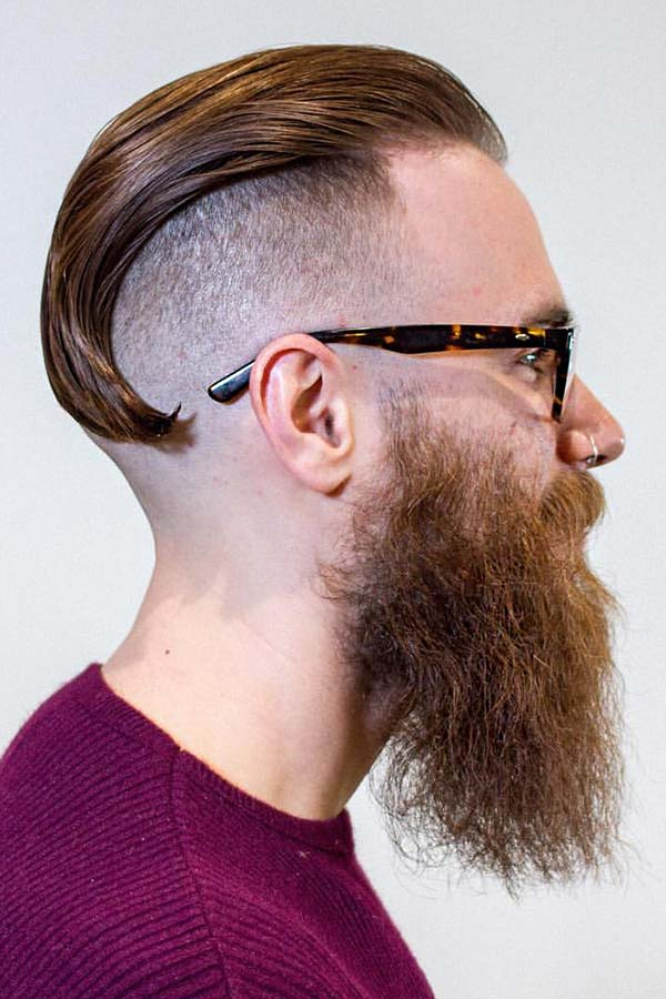 Disconnected Undercut Red Beard #undercut #slickedbackundercut #slickback #slickedback #slickbackhair