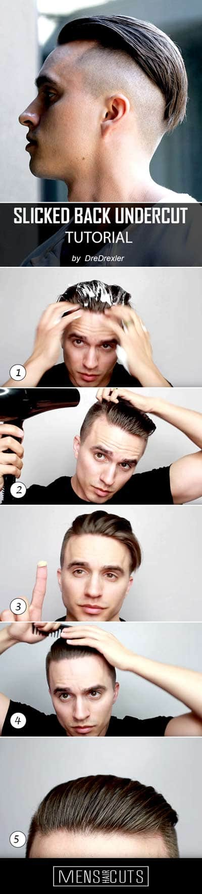 How To Perfectly Style Slicked Back Undercut