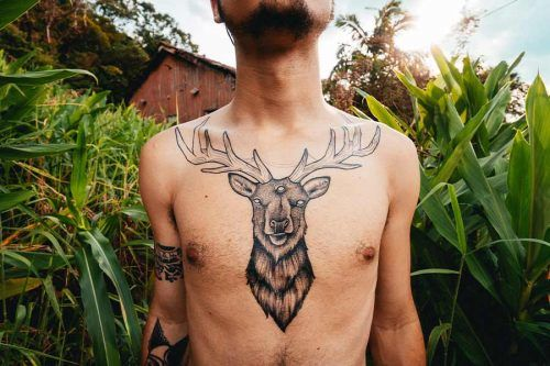 Play It Safe #tattoo #tattoos #menstattoo #tattoosformen #deer