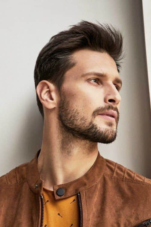 Some Cool Mens Haircuts Ideas With Patchy Beard #patchybeard #beardstyles #texturedhair #taperedhair