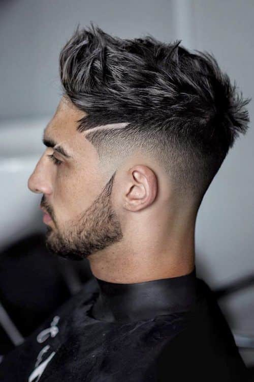 Some Cool Mens Haircuts Ideas With Patchy Beard #patchybeard #beardstyles #texturedhair #fadehaircut