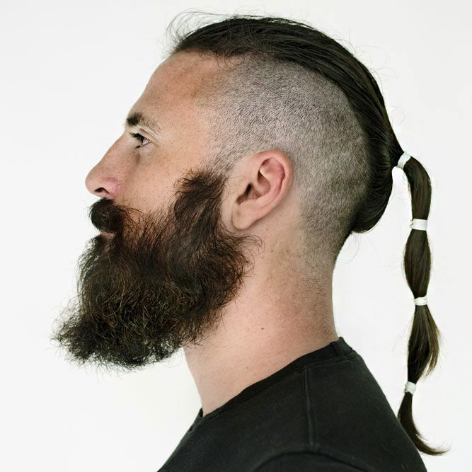 Long Artistic Pony With Undercut #undercut #manponytail #longhairstylesformen