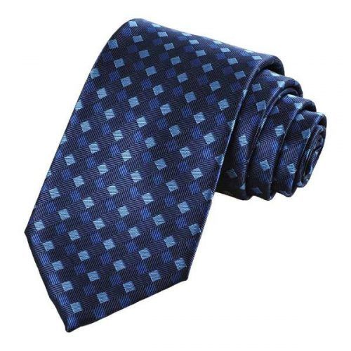 Dark Blue Striped Plaid Men's Ties #ties #mensties #tiesformen #suitaccessories