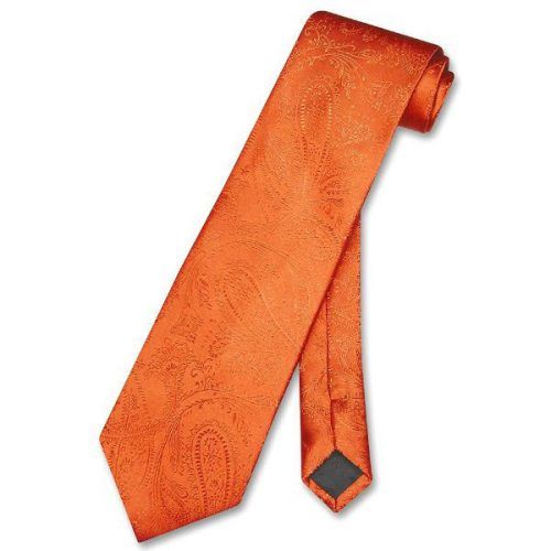 Paisley Orange Men's Ties #ties #mensties #tiesformen #suitaccessories