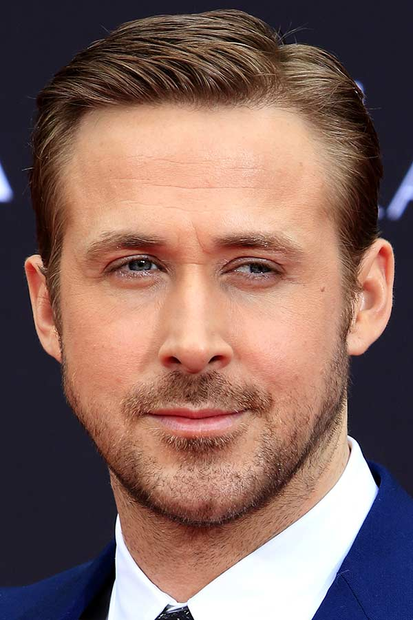 Slicked In The Side Haircut #ryangoslinghaircut #ryangosling