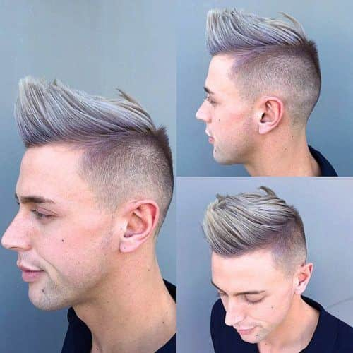 Brush Up Hairstyle #silverhairmen #howtogetsilverhair #silverhairwax #silverhaircolour
