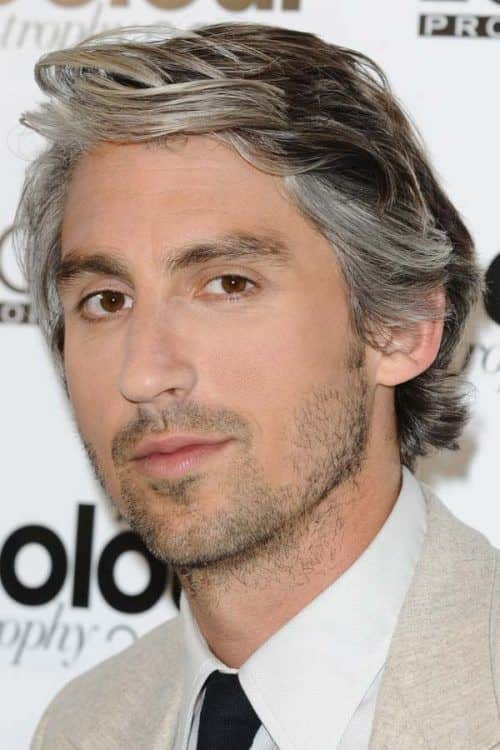 Layered Waves #silverhairmen #howtogetsilverhair #silverhairwax #silverhaircolour