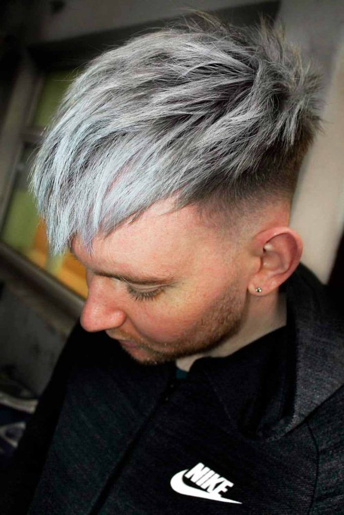 Layered Top #silverhairmen #howtogetsilverhair #silverhair #greyhair #grayhair