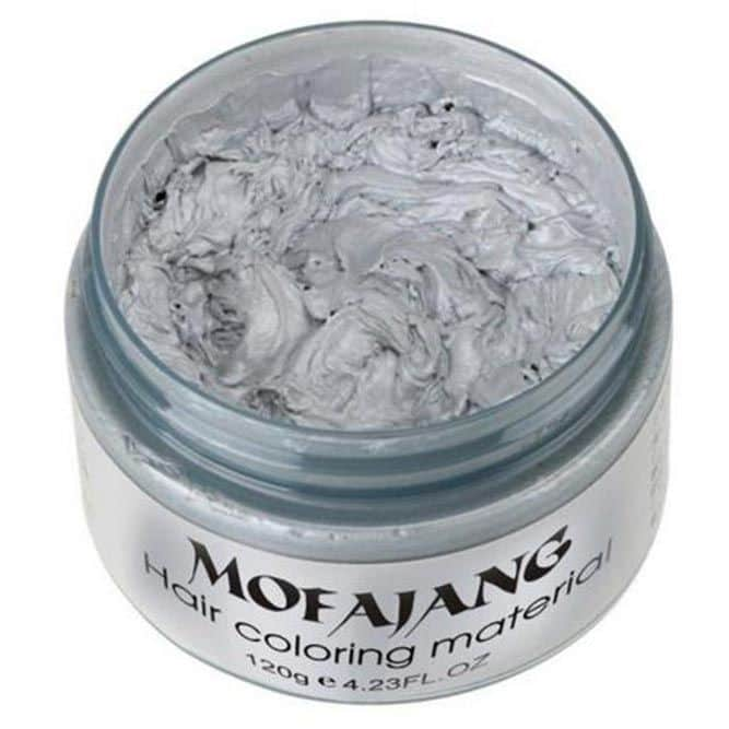 Mofajang Temporary Hair Color Wax #silverhairmen #howtogetsilverhair #silverhairwax #silverhaircolour