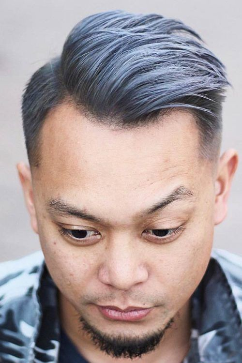 Side Swept Undercut  #silverhairmen #howtogetsilverhair #silverhaircolour #greyhair #grayhair