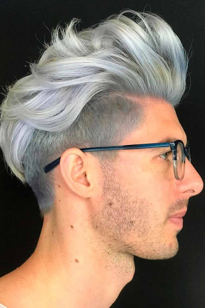 Undercut Long Top #silverhairmen #howtogetsilverhair #silverhair #greyhair #grayhair
