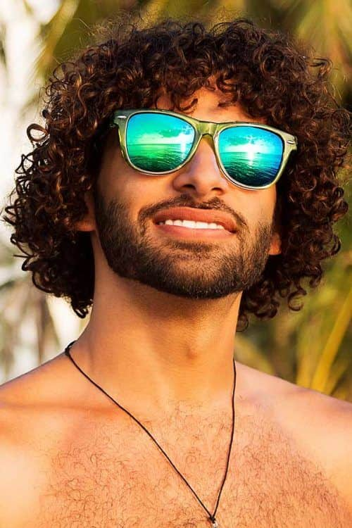 Curly Medium Style #surferhair #longhairmen #menshairstyles #сurlyhairmen #layeredhaircut