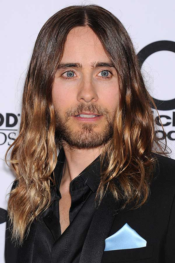 Jared Leto's Shiny Ombre #surferhair #longhairmen #menshairstyles #beachwaves
