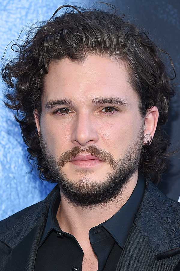 Kit Harington's Styled Back Curls #surferhair #longhairmen #menshairstyles #beachwaves