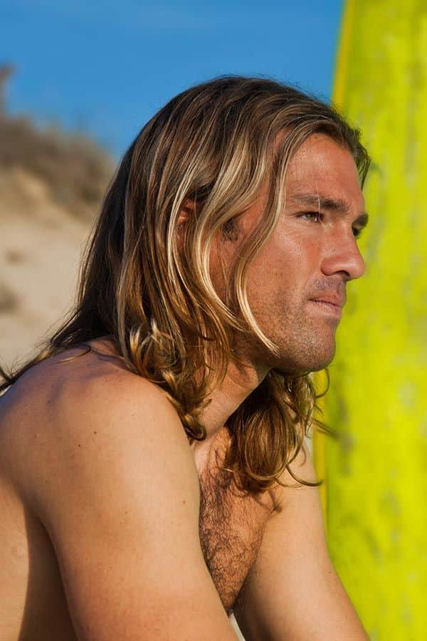Long Flowing Hair #surferhair #longhairmen #menshairstyles #beachwaves #layeredhaircut