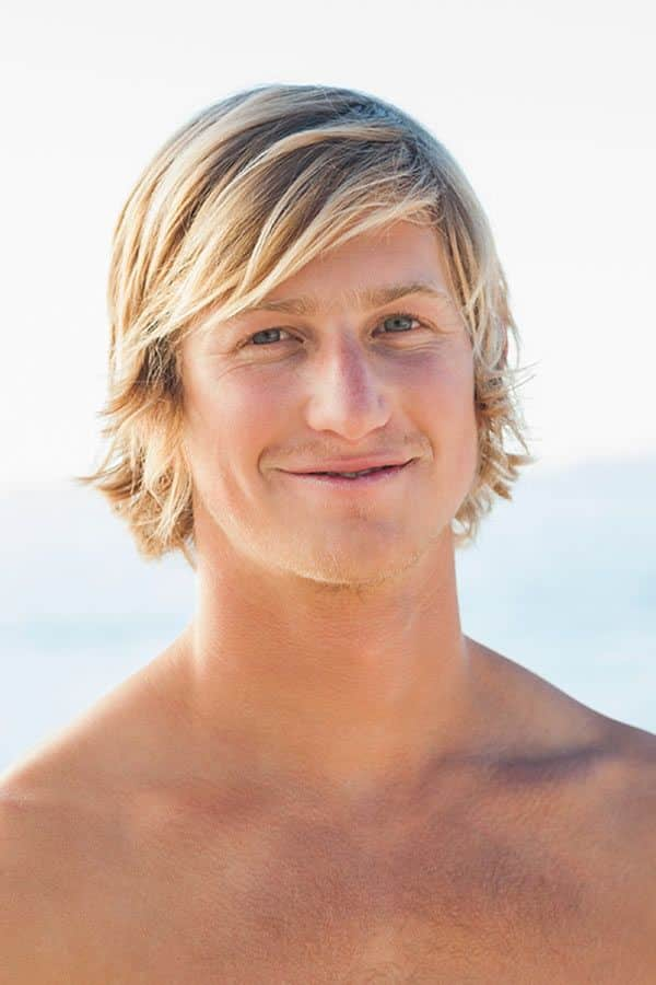 Straight Layered Blonde Hair #surferhair #longhairmen #menshairstyles #beachwaves #layeredhaircut